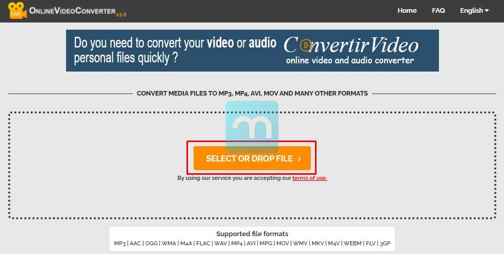 Select file Video