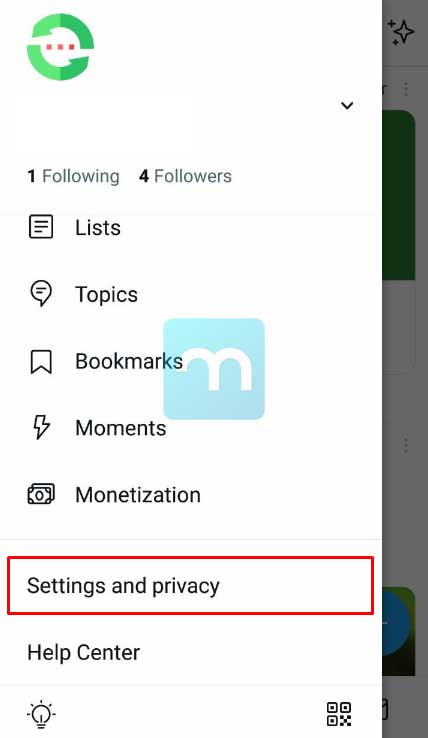 Settings and Privacy Twitter Android